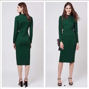 Topshop cutout paneled midi dress - EUR 38 petite